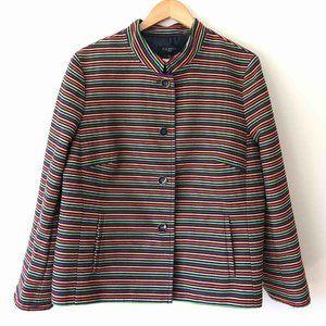 TALBOTS  Woman 18W Colorful Striped Jacket/ Blazer